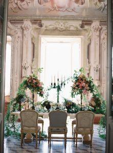 Luxury Lavish and botanical floral decorations at VillaSolaCabiati