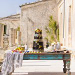 Luxury wedding in sicily by Italian weddings and events-Dimora delle Balze-Maiolica wedding cake
