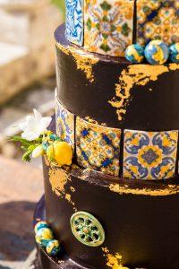 Maiolica wedding cake – luxury wedding in sicily