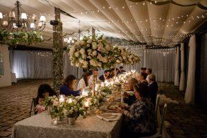 Reception dinner at Villa Eva-wedding in ravello
