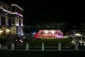 luxury wedding lake como by night